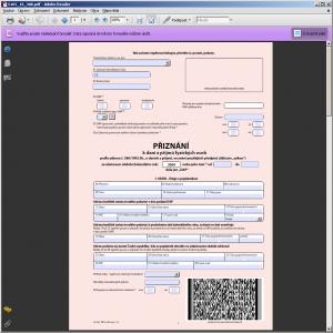 Daň z příjmů fyzických osob - interaktivní formuláře