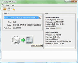 MakeMKV 1.9.9 - náhled