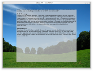 FocusWriter 1.5.0 - náhled