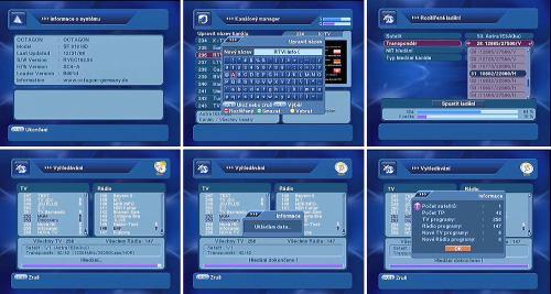 Octagon SF 918 HD - použití přístupových karet