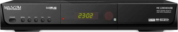 Mascom MC 2200 HDCI USB přední panel