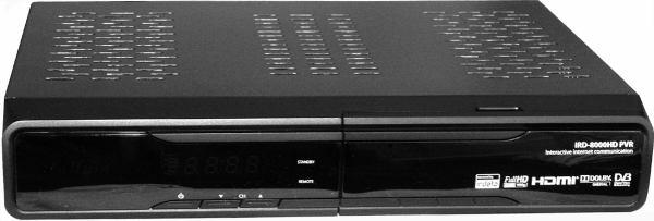 HD BOX IRD-8000 HD PVR přední panel