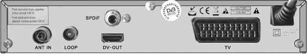 DI-WAY T-200HD zadní panel
