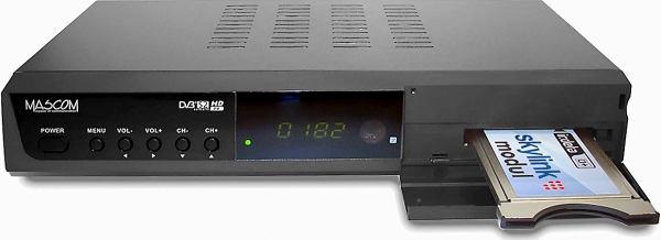 Mascom MC 2200 HDCI USB přední panel otevřený