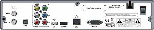 Octagon SF1008 HD - Inteligence zadní panel