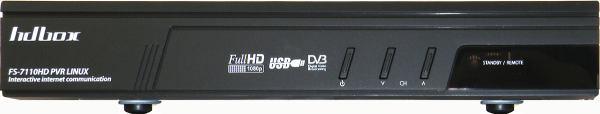 HD-BOX FS-7110 HD PVR přední panel