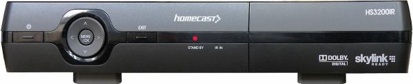 Homecast HS 3200IR přední panel
