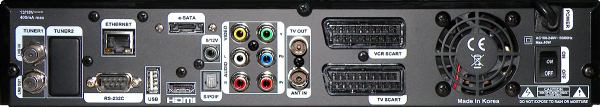 AB IPBox 9900 BB zadní panel