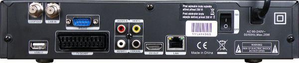 DreamSky NXP256HD zadní panel