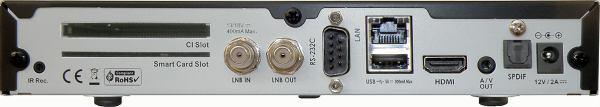 HD-BOX FS-7110 HD PVR zadní panel