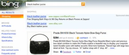 FB Bing Shopping