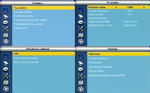 AL-2500HD CIUSB menu