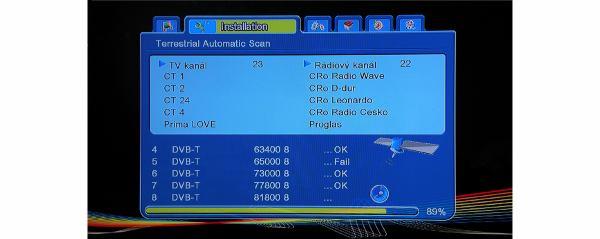 Ariva 120 TS Combo ladění terestriky