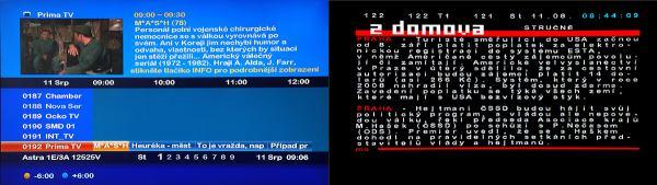 Set-top-box mVision HD-300 NET - EPG, teletext