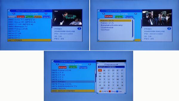 DI-WAY T-200HD editace programů