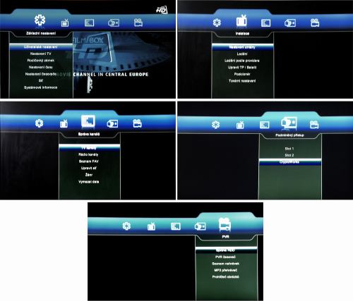 DreamSky DSR-9300 HD PVR menu