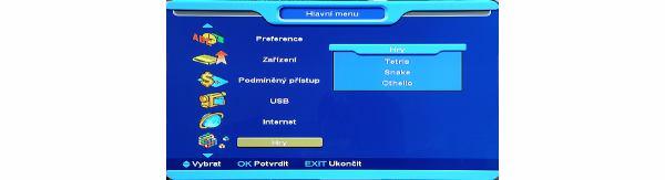 Opticum x403p HD menu 5