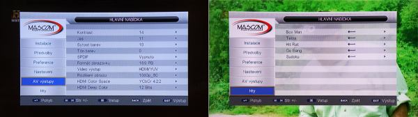 Mascom MC 2200 HDCI USB menu 3