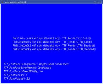 Výpis textu pomocí SDL_ttf