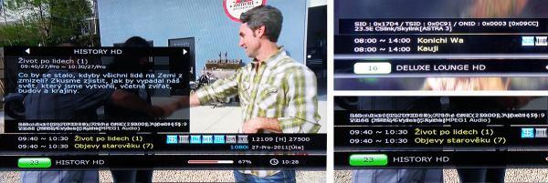HD BOX IRD-8000 HD PVR zobrazování
