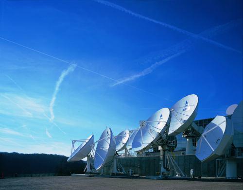 Uplinkové paraboly společnosti SES Astra