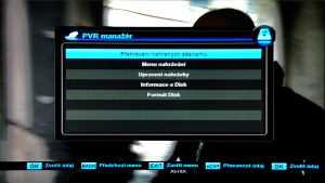 DiZiPiA PVR menu