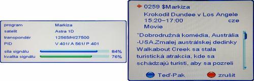 Opticum HD X100 info o programu