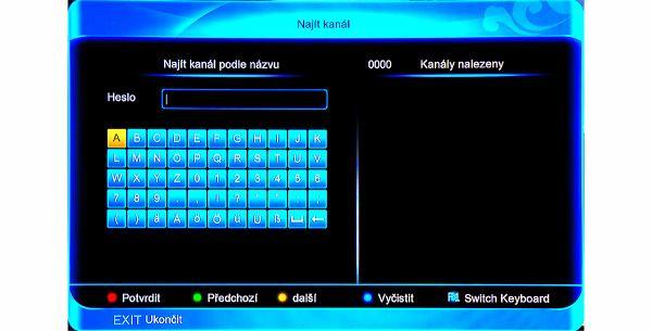 Amiko SHD-8900 Alien hledání kanálu