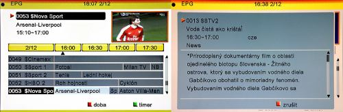Satelita EPG anotace