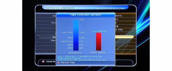 HD-BOX-FS-9105 test rychlosti