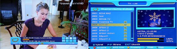 Opticum x403p HD info banner