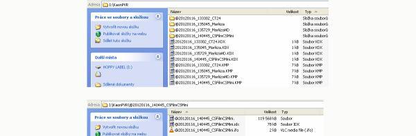 KAON KSF-SA700PIR nahrávky na disku