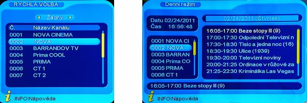 DI-WAYT-1000E rychlá volba