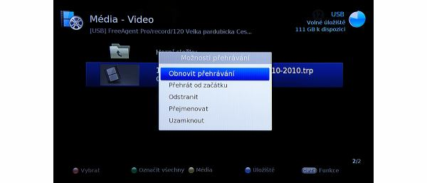 Humax IRHD-5100S video nahrávky