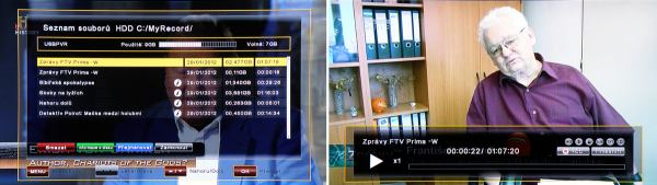 ATlink 100 IR HDD menu