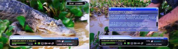 HD-BOX FS-7110 HD PVR informační lišta
