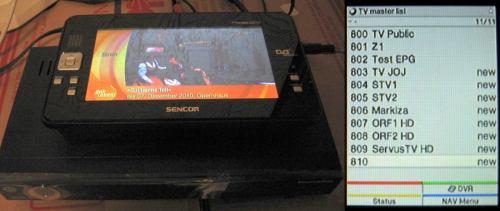 Test DVB-T2 Brno - TechniSat HDFV + televizor Sencor