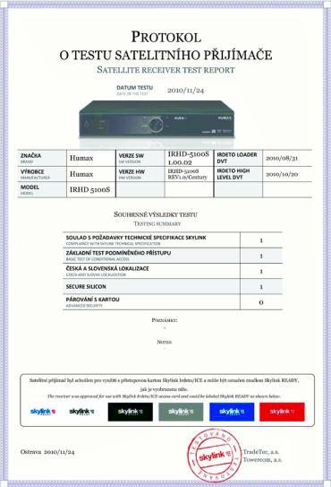 Humax IRHD-5100S protokol