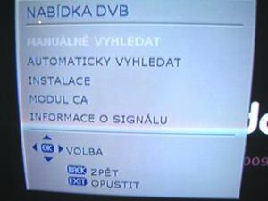 Sencor STV 2112DVBT - podmenu