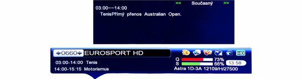 DreamSky NXP256HD banner na obrazovce