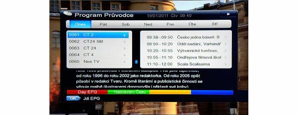 DreamSky NXP256HD EPG