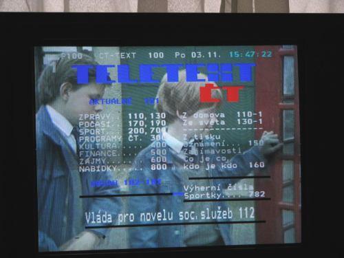 Sencor STV 2112DVBT - teletext
