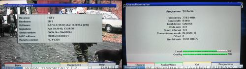 TechniSat HDFV - info přístroj signál