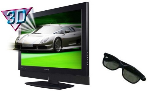 3D televize - ilustrační