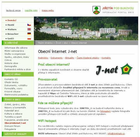 Jiřetín - web