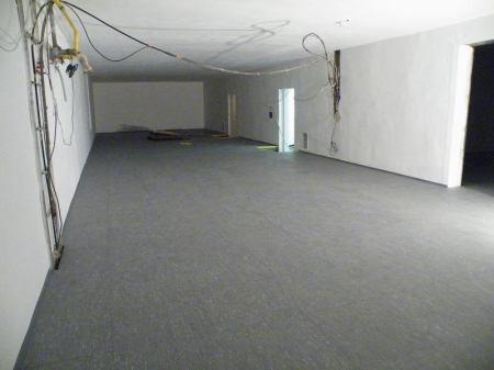 Finální podlaha v hlavním datovém sálu