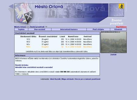 Orlová - web