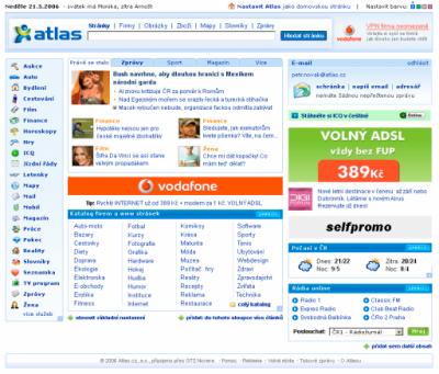 Nová homepage Atlas.cz