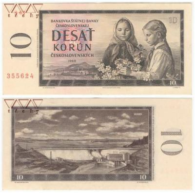 Bankovka 10Kčs