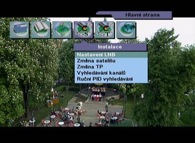 BigSat 6800 menu